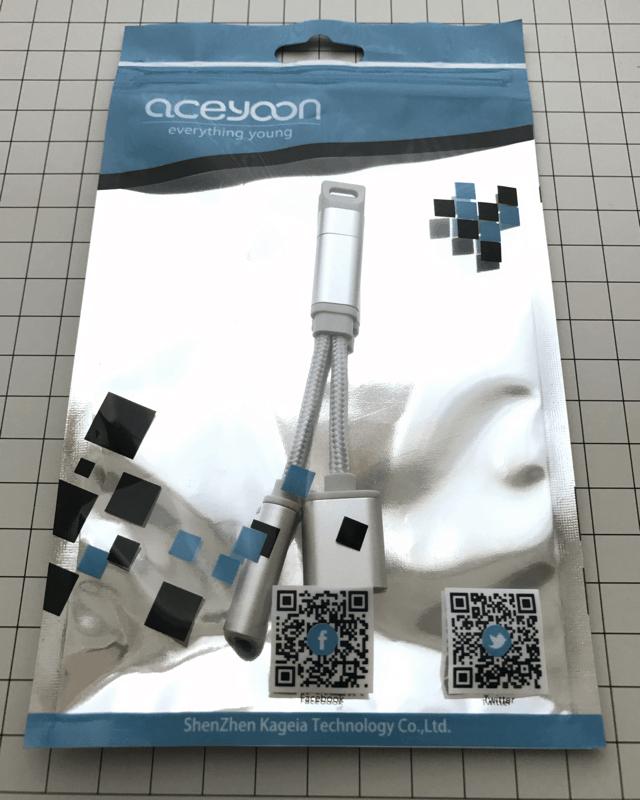 aceyoon Lightning 変換ケーブル 2 in 1